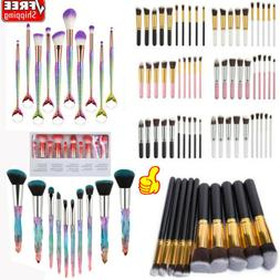 10Pcs Makeup Brushes Set Face Powder Contour BB Cream Brushe