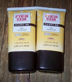 2 Burt's Bees BB Cream W/ Noni Extract Light -SPF 15 - .exp