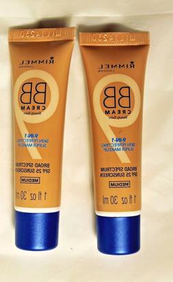 2 lot Rimmel BB Cream 9-In-1 Skin Perfecting Super Makeup SP