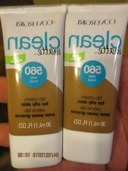 2 New Covergirl Clean Matte BB Cream #560 Oily Skin formula