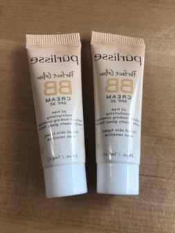 2x PURLISSE Perfect Glow BB Cream SPF 30 Oil Free Moisturizi