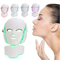 7color led photon therapy mask neck facial