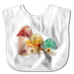 Colors Mushroom Funny Baby Bibs Burp Infant Cloths Drool Tod
