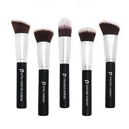 Kabuki Face Makeup Brush Set – Best 5 pc Large Face Brushe