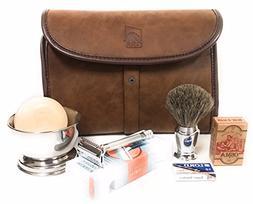 Merkur Deluxe Travel Dopp Kit - #23001 Double Edge Safety Ra