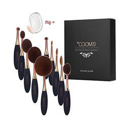Oval Makeup Brush Set Toothbrush Cute Elite Spoon Make up Co