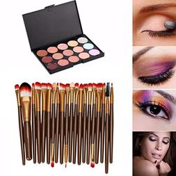 Usstore 20PC Makeup Brushes + 1PC Palette Concealer Multipur