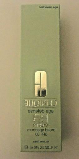 Clinique Age Defense BB Cream SPF 30 1.4 oz New In Box Choos