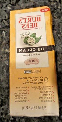 Burt's Bees BB Cream W/ Noni Extract Light -SPF 15 - .exp 10