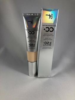 IT COSMETICS CC+ Full Coverage Cream SPF 50 ~ FAIR 1.08fl Oz