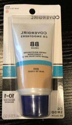 CoverGirl CG Smoothers BB Cream ~ 805 Fair to Light ~ New In