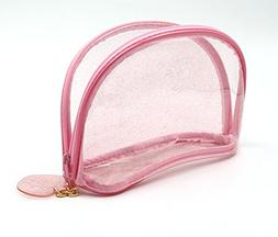 HOYOFO Clear Cosmetic Bag Transparent Travel Makeup Pouch To