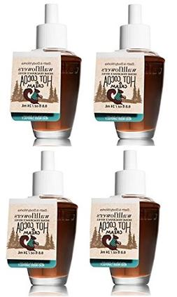 Bath and Body Works 4 Pack Hot Cocoa & Cream Wallflower Frag