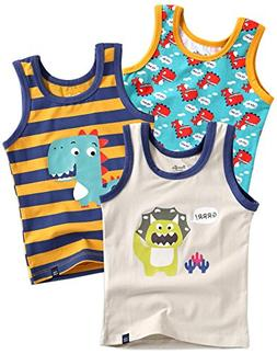 Vaenait baby Kids Boys Cotton Undershirts Tank Tops Dinoland