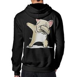 BB&YYY Dabbing Cream French Bulldog Dog Men's Pullover Hoodi
