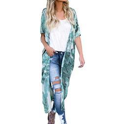Kimono for Womens, FORUU Boho Chiffon Beach Sun Protection C