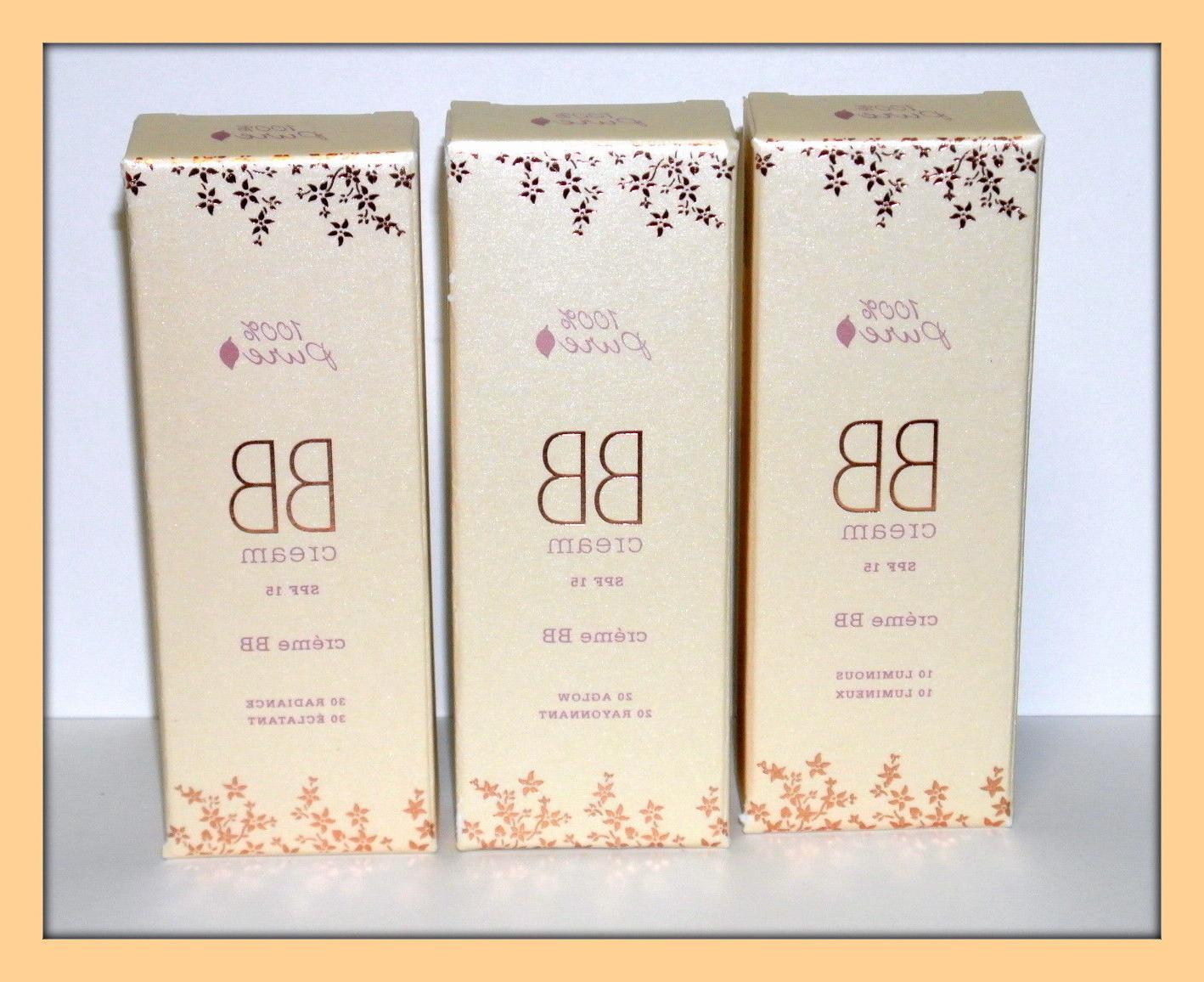 100% Pure BB Cream SPF 15 Luminous Aglow Radiance Full size