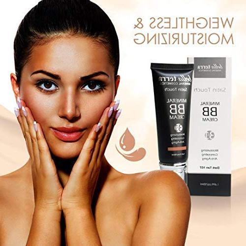 Bella BB Cream 3-in-1 Tinted Moisturizer Buildable Coverage - to Dark Skin with Makeup Foundation- Hypoallergenic