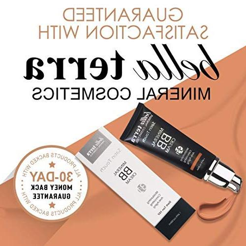 Bella Terra 3-in-1 Moisturizer - Buildable Coverage - to Dark Skin with Natural Mineral Makeup Hypoallergenic