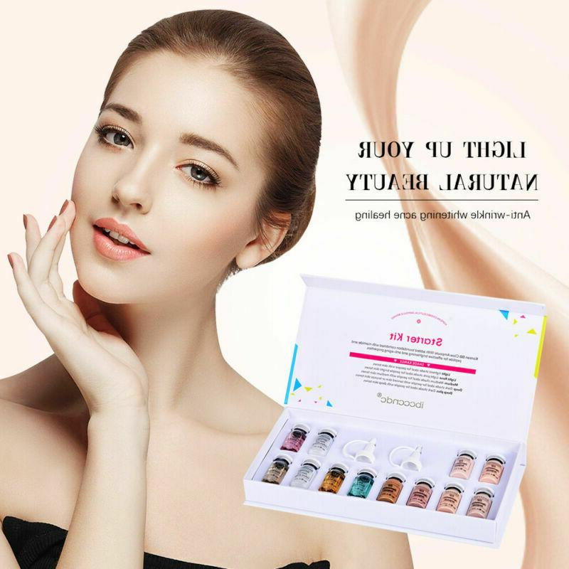 12Pcs/set ibccndc Cream Glow DERMA Foundation Starter Kit