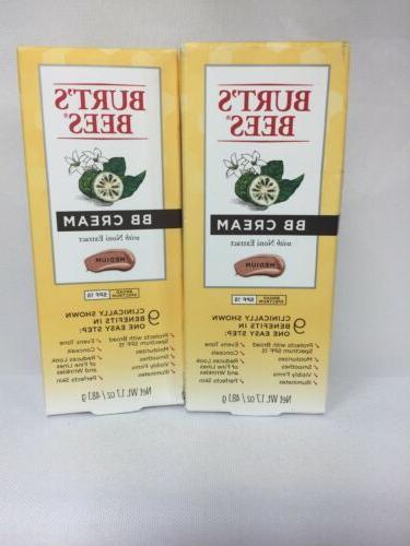 2 burts bees medium bb cream moisturizer