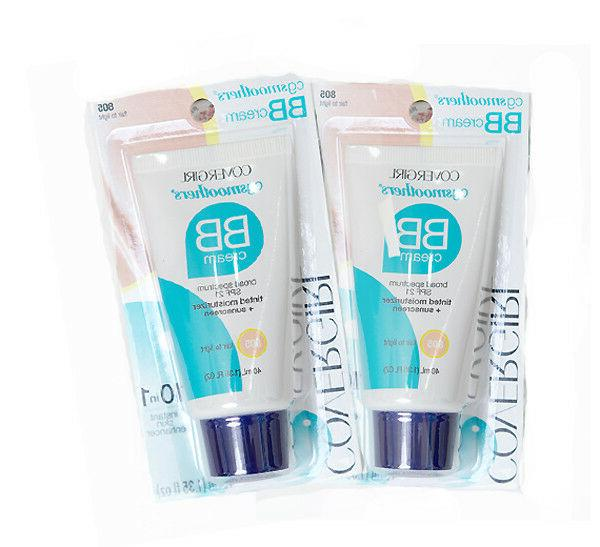 2 Pack!- COVERGIRL Smoothers Lightweight BB Cream- SPF 21- 1