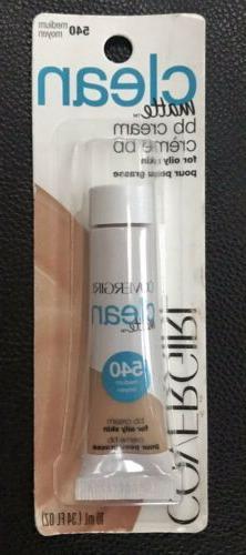 5 tubes CoverGirl Clean Matte BB Cream Oily Skin .34oz 540 M
