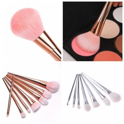 7Pcs Cosmetic Brush Kit Powder Face Makeup