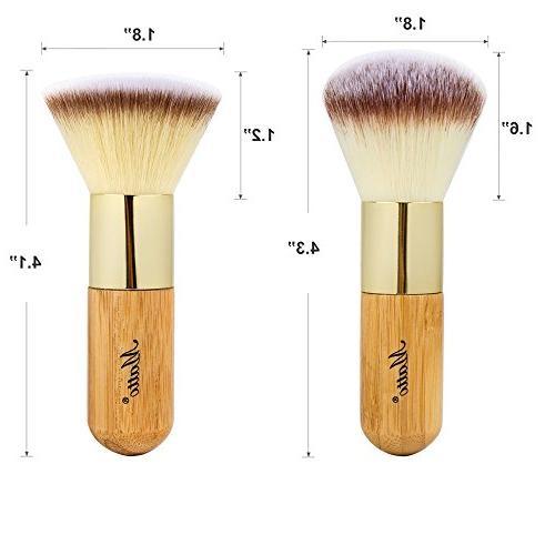 Matto Bamboo Makeup Brush Set Kabuki 2 Pieces - Foundation Powder Makeup Mineral Cream