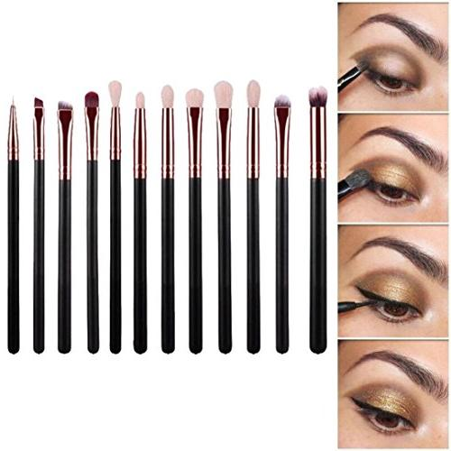 Usstore Brand New 12pcs Cosmetic Art Makeup Brush Powder Bru