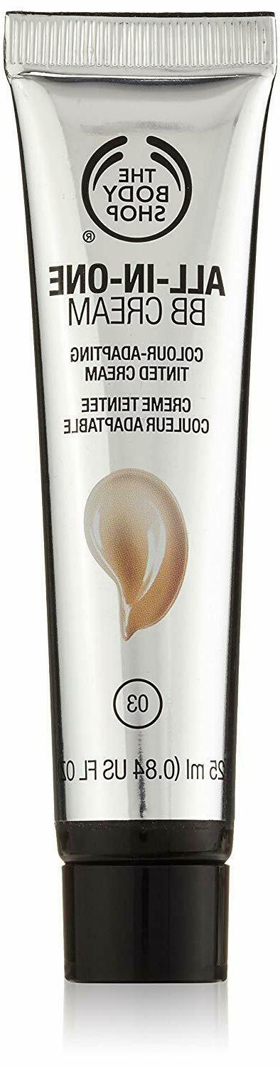 The Body Shop All-in-One BB Cream for Unisex, 03/Dark, 0.84