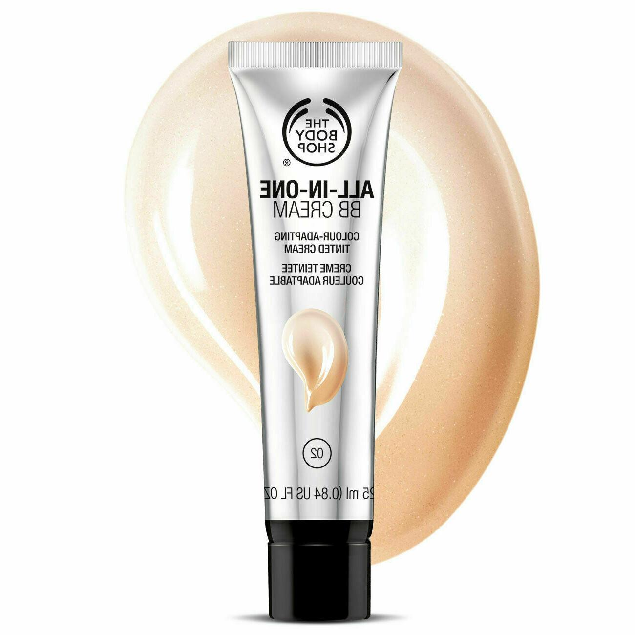 The Body Shop ALL IN ONE BB Cream Shade 02 NEW