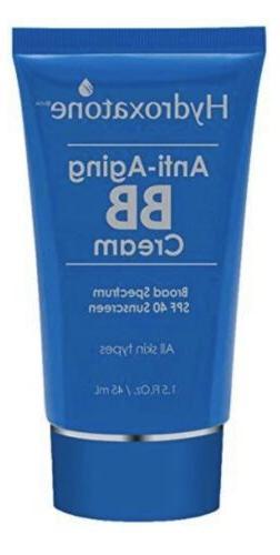 Hydroxatone Anti-Aging BB Cream, SPF 40 Universal Shade ~ Al