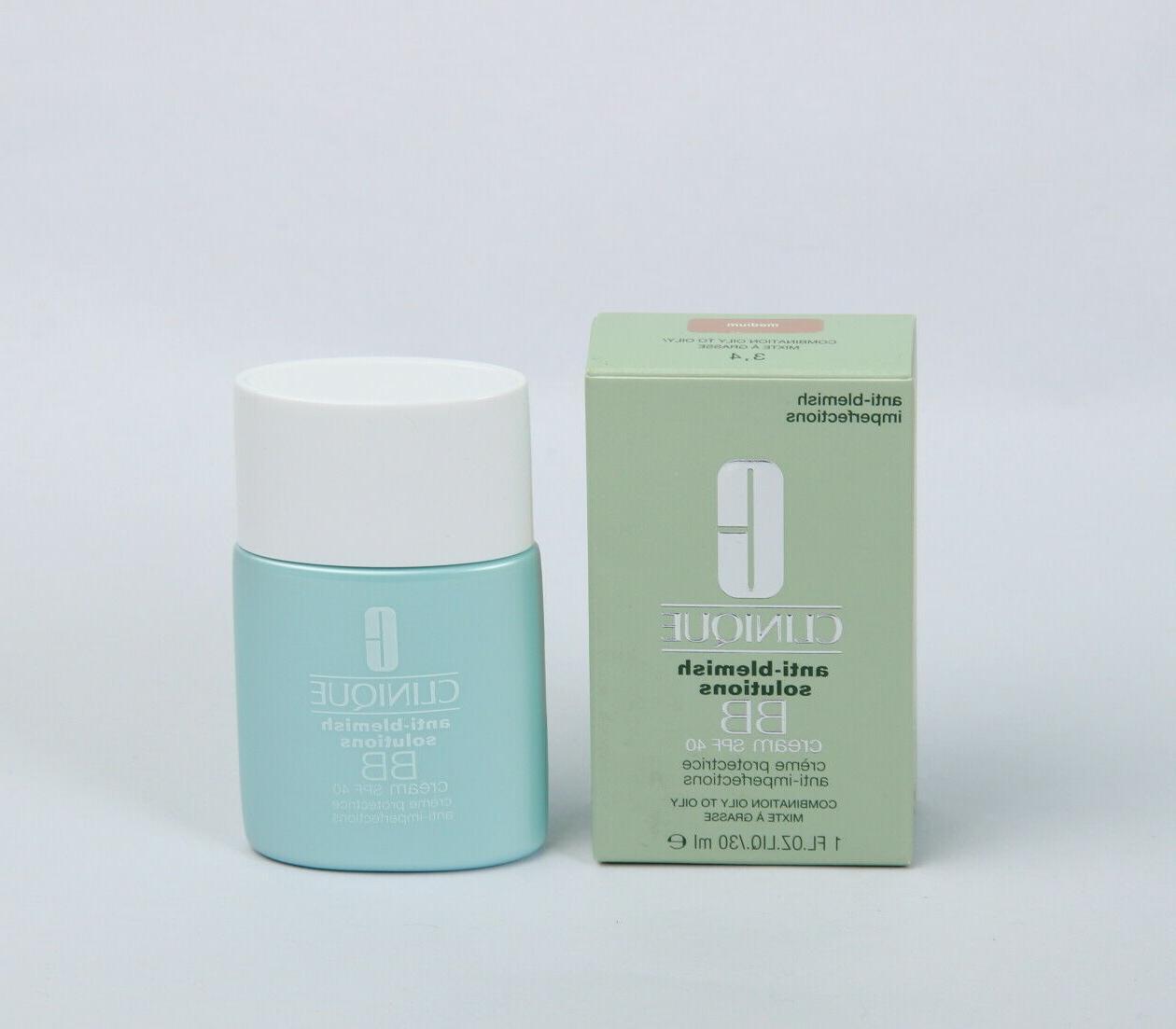 Clinique Anti-Blemish Solutions BB Cream SPF 40  Medium, 1oz