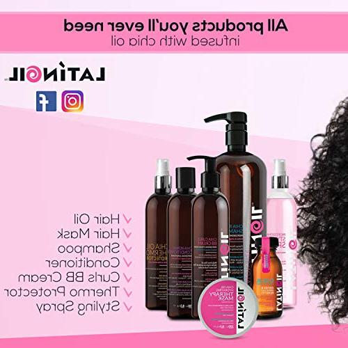 LATINOIL Curl BB Oil Curly Conditioner Treatment Curls Enhancer Creme Light Natural - Perm Hair 8.5 Oz