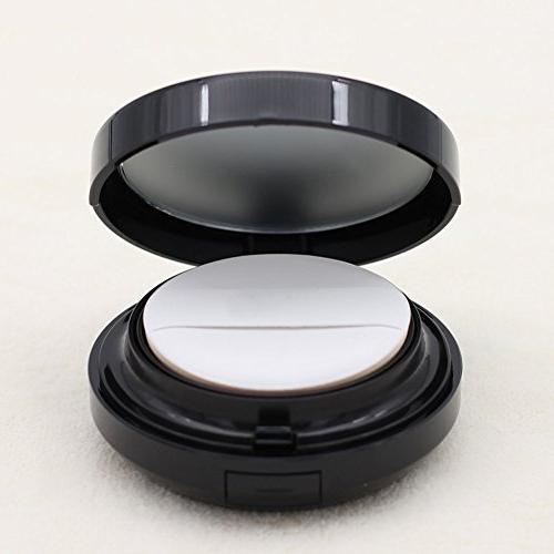 ASTRQLE 15ml 0.5oz Luxurious Metal Air Puff BB Liquid Cream Box Powder Air Cushion Puff and Mirror