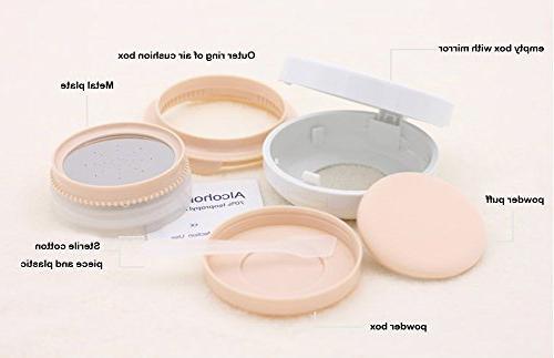 ASTRQLE 15ml Empty Luxurious Air Box BB Liquid Cream Box Dressing Powder Holder Air Cushion Mirror