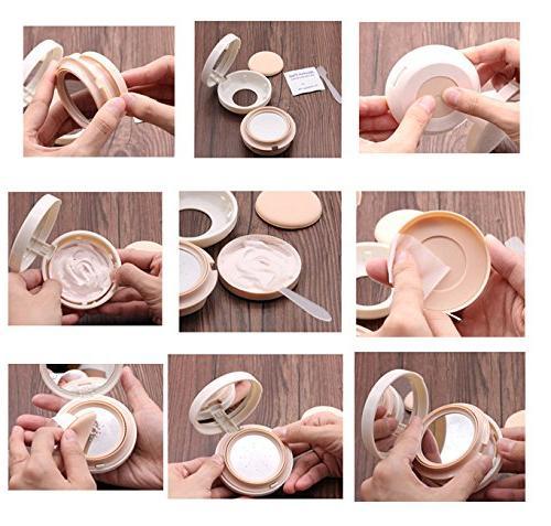 ASTRQLE Luxurious Portable Air BB Cream Dressing Powder Cushion Powder Mirror