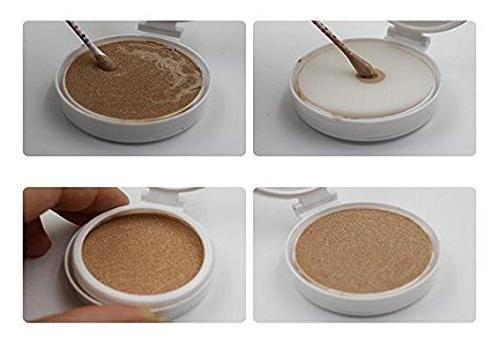 15ml Luxury Red Make-up Powder Container Air Cushion Case Holder Powder Puff Sponge Mirror for BB CC Foundation Box