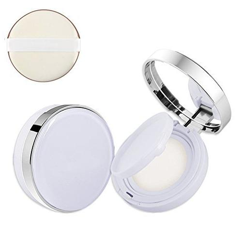 15ml 0.5oz Empty luxury Reusable White Cushion Puff Case Holder Powder Sponge Mirror Makeup Foundation BB Cream Box