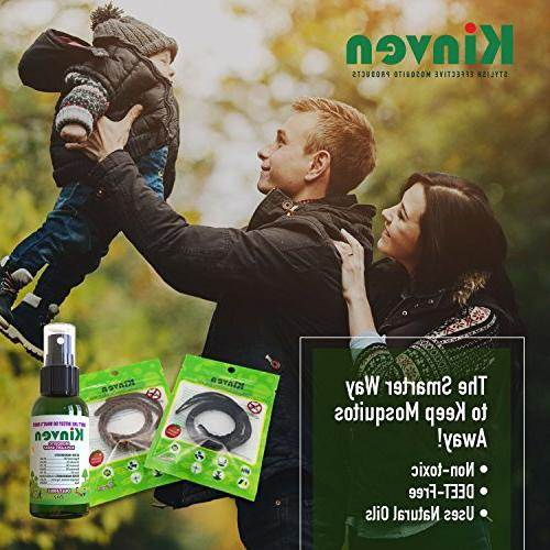 Kinven - Bracelet DEET-Free, Indoor Outdoor Protection Adults & Kids