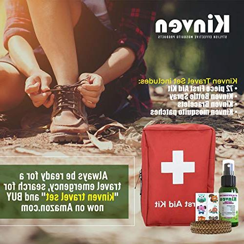 Kinven Mosquito Repellent Bundle - Mosquito & Spray, Natural, DEET-Free, Protection for Adults Kids