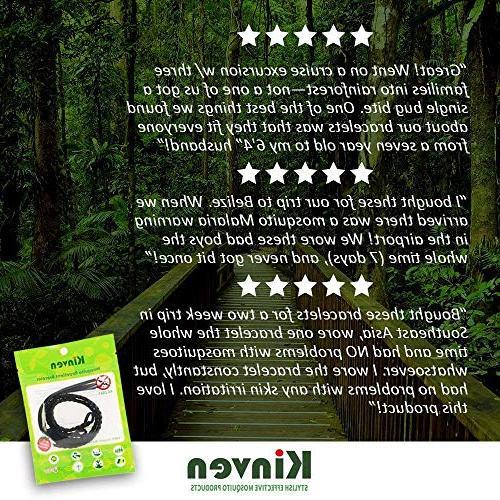 Kinven Mosquito Repellent - Repellent Bracelet & DEET-Free, & Protection for Adults Kids