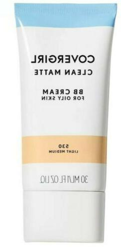 New Covergirl Clean Matte BB Cream For Oily Skin - Light /Me