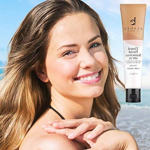 Tinted - SPF Natural & Broad Sunblock Lotion, Tinted Moisturizer Sunscreen Face Skincare, Facial