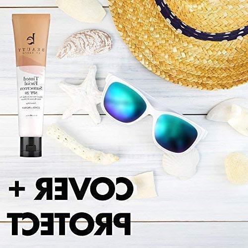 Tinted Sunscreen - 20 With Natural & Broad Spectrum Sunblock Lotion, Tinted Zinc Oxide Facial Sunscreen