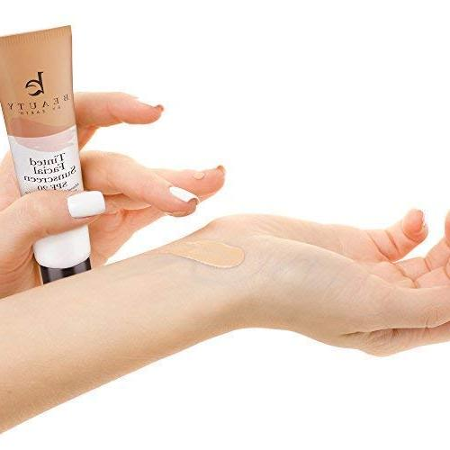 Tinted Sunscreen - SPF Natural & Broad Lotion, Tinted Moisturizer Sunscreen Face for Facial