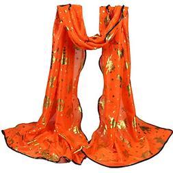 AutumnFall Lightweight Scarves,Fashion Halloween Pumpkin Pri