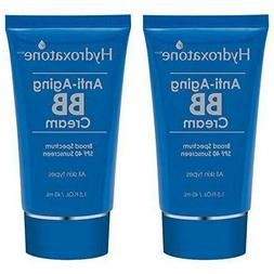 Lot of 2 Hydroxatone Anti Aging BB Cream 1.5 fl oz, Broad Sp