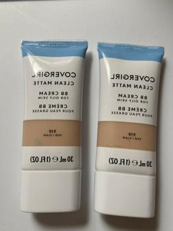 Lot Of 2 COVERGIRL Clean Matte BB Cream For Oily Skin, Fair